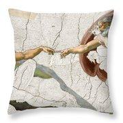Michelangelo Creation Digital Throw Pillow