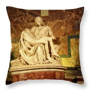 Michelangelo Masterpiece Of A Mother's Love Throw Pillow