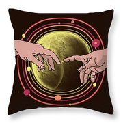 Michelangelo Space  Throw Pillow