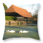 Michelham Priory Barn Throw Pillow
