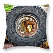 Michelin Weathered And Worn Throw Pillow