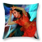 Michelle Ahl Pensive Moment Throw Pillow