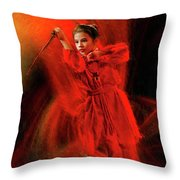 Michelle Ahl To The Rescue Throw Pillow