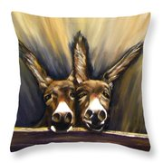 Michelle And Maxine Throw Pillow