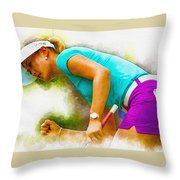 Michelle Wie Finally Won Her First Major Championship Throw Pillow