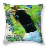 Michelle Wie Street Art Throw Pillow