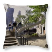 Michigan Avenue On The River Throw Pillow