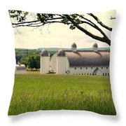 Michigan Barn 1 Throw Pillow