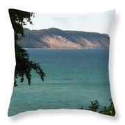 Michigan Bluff Throw Pillow