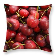 Michigan Cherries Throw Pillow