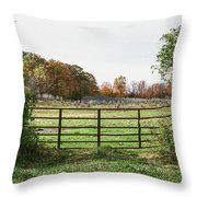 Michigan Farm And Fence  Throw Pillow