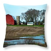 Michigan Farm Throw Pillow