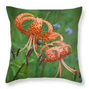 Michigan Lilly Throw Pillow