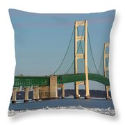 Michigan Mighty Mac Throw Pillow