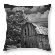 Michigan Old Wooden Barn Throw Pillow