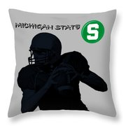 Michigan State Football Throw Pillow
