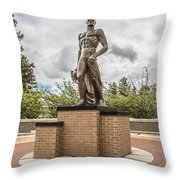 Michigan State - The Spartan Statue Throw Pillow
