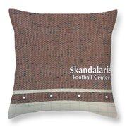 Michigan State University Skandalaris Football Center Signage Throw Pillow