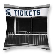 Michigan State University Tickets Booth Sc Signage Throw Pillow