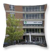 Michigan State University Welcome To Akers Signage Throw Pillow
