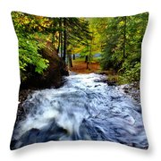 Michigan Waterfall Throw Pillow