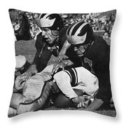 Michigan Wolverines Vintage 1952 Throw Pillow
