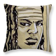 Michonne Throw Pillow