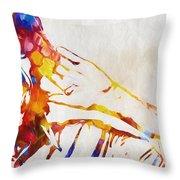 Mick Jagger Abstract Throw Pillow