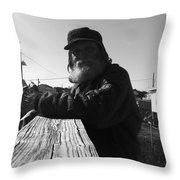 Mick Lives Across The Street Not In The Streets Throw Pillow