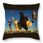 Mickey Mouse And Friends - Hot Air Balloons Throw Pillow