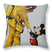 Mickey And The Bravest Throw Pillow