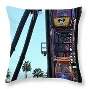 Mickey Donald Ferris Wheel California  Throw Pillow