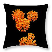 Mickey Flowers Throw Pillow