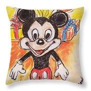 Mickey Mouse 90th Birthday Celebration Throw Pillow