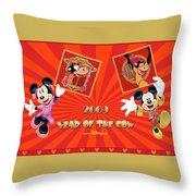 Mickey Mouse And Friends Throw Pillow