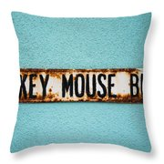 Mickey Mouse Blvd Throw Pillow