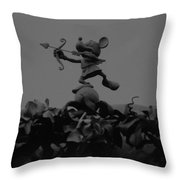 Mickey Mouse In Black And White Throw Pillow