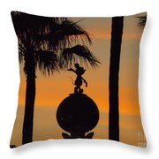 Mickey Mouse Sihouette Throw Pillow