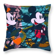Mickey Mouse Vs. Minnie Mouse Stage On Throw Pillow