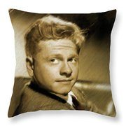 Mickey Rooney, Actor Throw Pillow