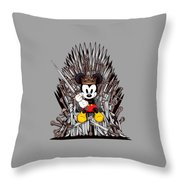 Mickey Thrones Throw Pillow