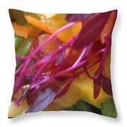 Micro Herbs Throw Pillow