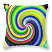 Micro Linear 11 Throw Pillow