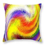 Micro Linear 13 Throw Pillow