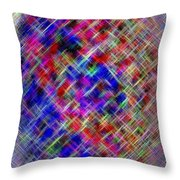 Micro Linear 4 Throw Pillow
