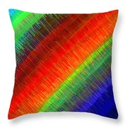 Micro Linear Rainbow Throw Pillow