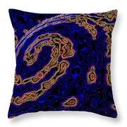 Micro Planet Throw Pillow