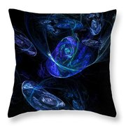Micro Universes Throw Pillow