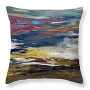 Microbes Paint Too Throw Pillow