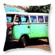 Microbus Throw Pillow